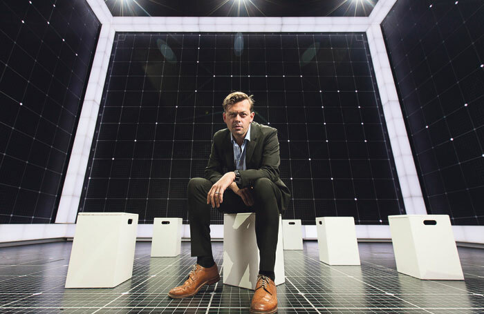 Writer Simon Stephens on the set of The Curious Incident of the Dog in the Night-Time. Photo: Alex Rumford