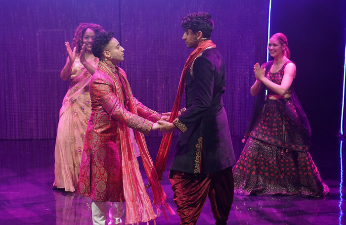 Robby Khela and Aizaac Sidhu in Stardust at Belgrade Theatre. Photo: Hitz Rao