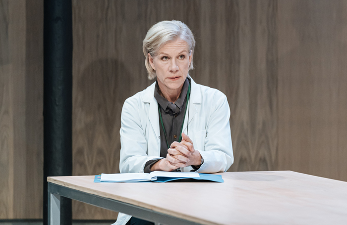 Juliet Stevenson in The Doctor at the Almeida. Photo: Manuel Harlan