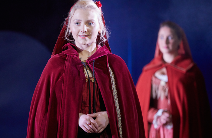 Postgraduate acting student Julie Lamberton in a Royal Welsh College of Music and Drama production of The Sicilian Courtesan. Photo: Mark Douet