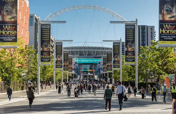 Wembley Park, Olympic Way. Photo: Chris Winter