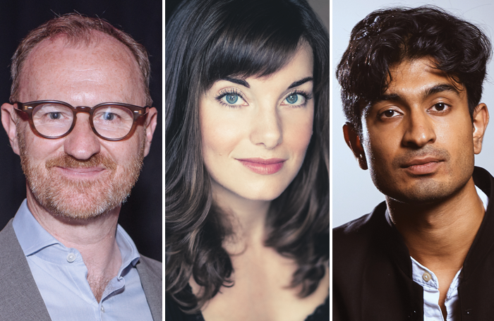Mark Gatiss (photo: David Monteith-Hodge), Rebecca Trehearn and Atri Banerjee (photo: Alex Brenner) are among the nominees for the UK Theatre Awards 2019