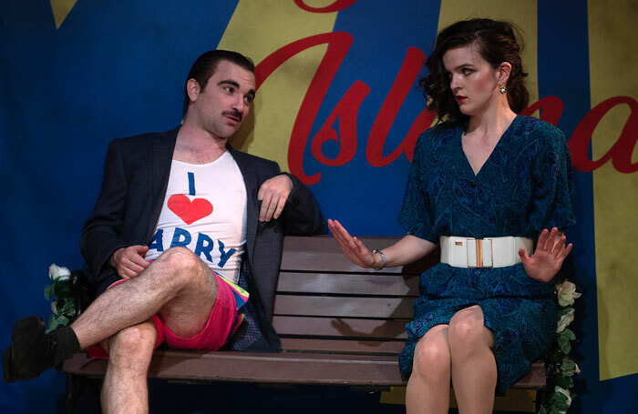 Matthew Kellett and Alys Roberts in The Elixir of Love at the King's Head Theatre. Photo: Bill Knight