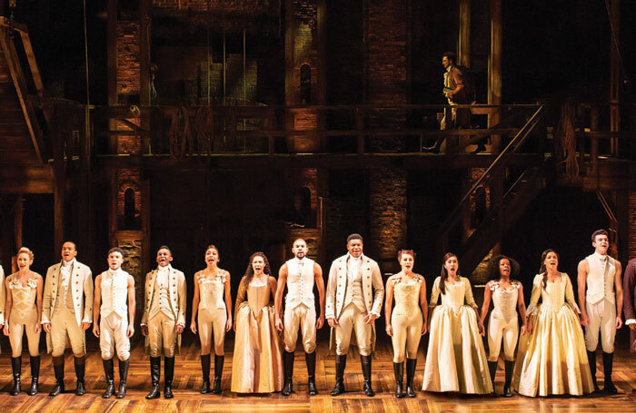 The current West End cast of Hamilton. Photo: Helen Maybanks