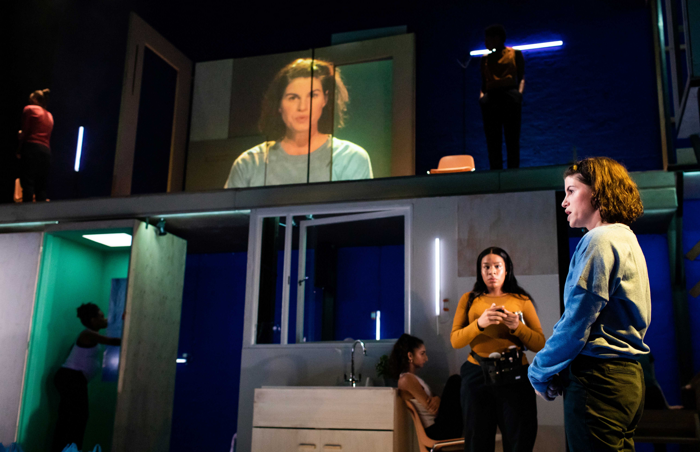Jemima Rooper and the cast of [Blank] at the Donmar Warehouse. Photo: Helen Maybanks