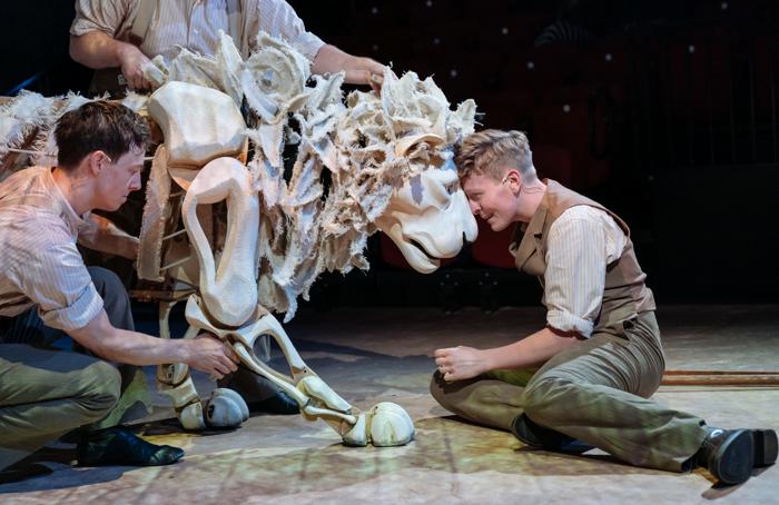 Adam Buchanan in The Butterfly Lion at Minerva Theatre, Chichester. Photo: Manuel Harlan