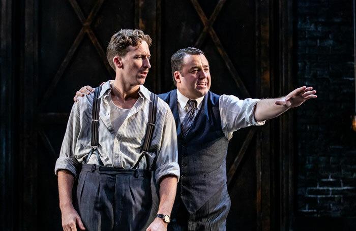 Alan Burkitt and Jason Manford in Curtains at Palace Theatre, Manchester. Photo: Richard Davenport