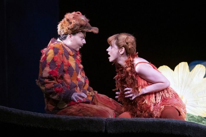 Aoife Miskelly and Lucia Cervoni in The Cunning Little Vixen. Photo: Richard Hubert Smith