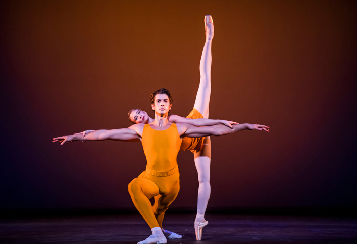 Reece Clarke and Lauren Cuthbertson in Concerto at the Royal Opera House, London. Photo: Tristram Kenton