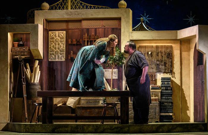 Nazan Fikret and Matthew Stiff in The Seraglio at Hackney Empire. Photo: Jane Hobson