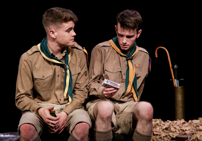 Charlie Mackay and Daniel Cornish in The Good Scout at Above the Stag, London. Photo: PBG Studios
