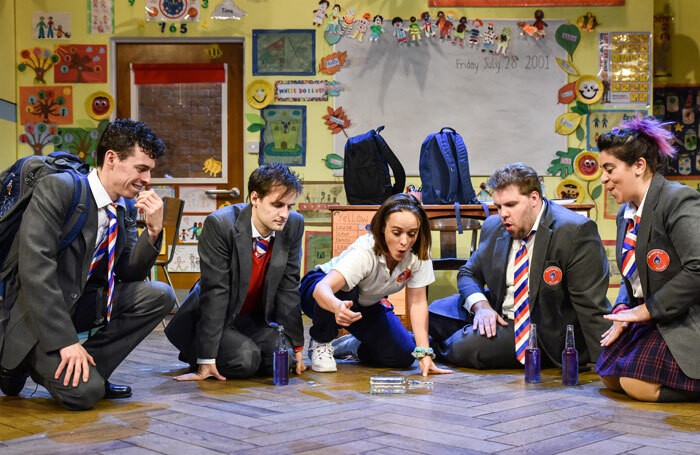 The cast of Groan Ups at Vaudeville Theatre, London. Photo: Robert Day