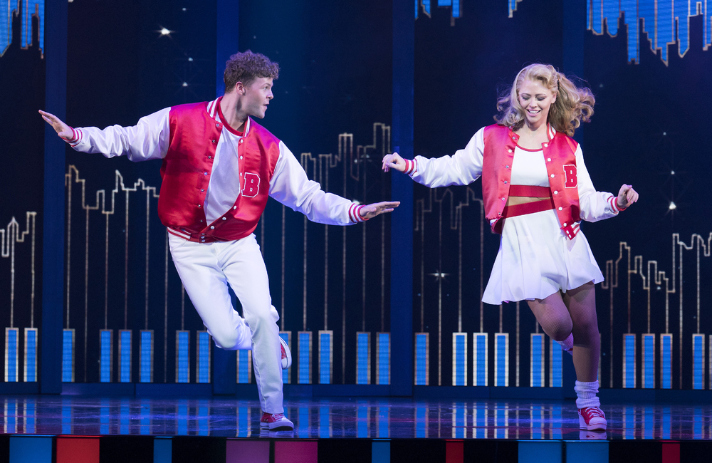 Jay McGuiness and Kimberley Walsh in Big the Musical at the Dominion Theatre, London. Photo: Alastair Muir