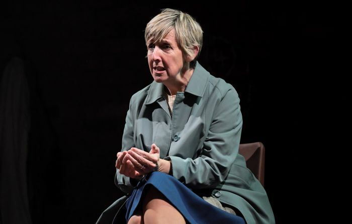 Julie Hesmondhalgh in There Are No Beginnings at Leeds Playhouse. Photo: Zoe Martin