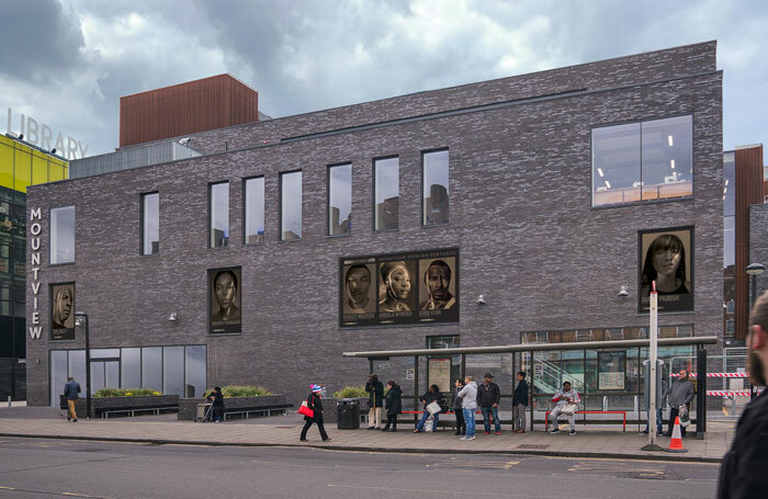 Peckham Portraits installed on the exterior of Mountview