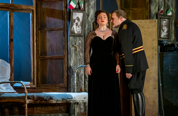Natalya Romaniw and Roland Wood in Scottish Opera's Tosca. Photo: James Glossop