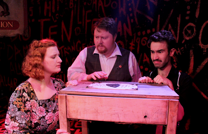 Reece Connolly, Caroline Buckley, and Christopher Keegan in Last Orders: The Haunting of the Old Red Lion, London
