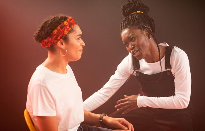 Olivia Onyehara and Tanisha Spring in Shuck 'n' Jive at Soho Theatre. Photo: Helen Maybanks