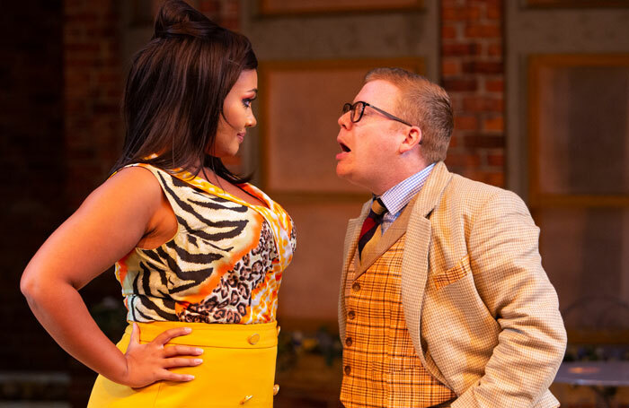 Tori Allen Martin and Philip Tomlin in One Man, Two Guvnors at Nuffield Southampton Theatres, Photo: Mike Kwasniak