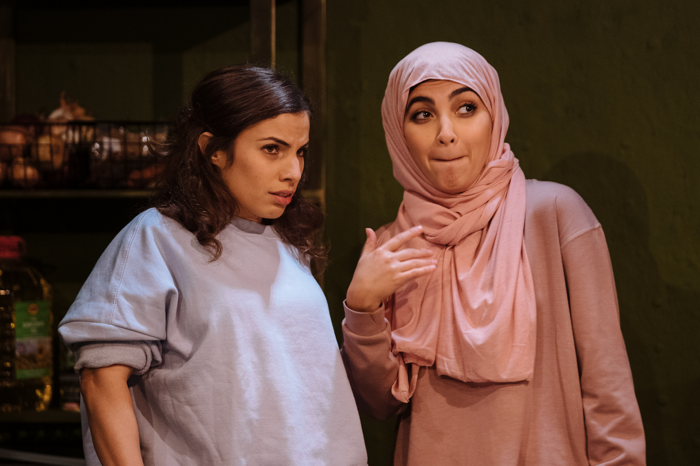 Nalân Burgess and Oznur Cifci in Out of Sorts at Theatre503, London. Photo: Helen Murray