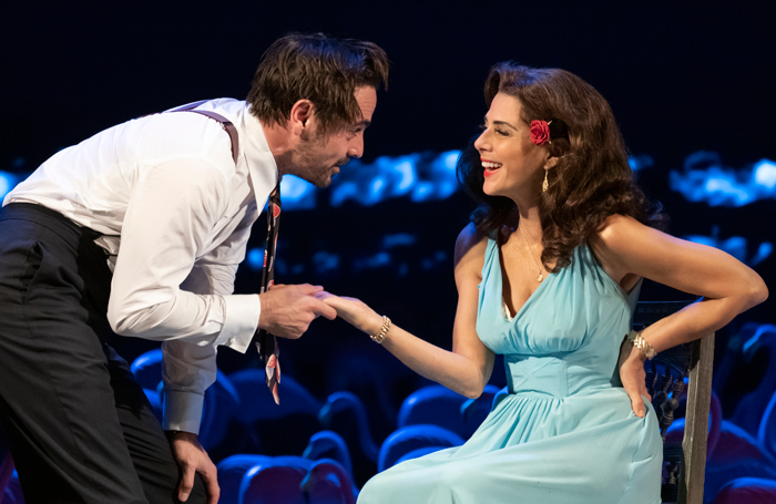 Emun Elliott and Marisa Tomei in The Rose Tattoo. Photo: Joan Marcus