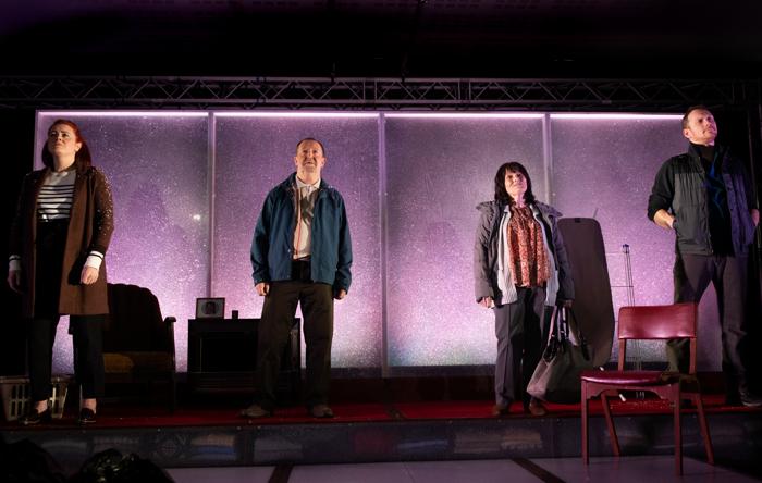 The cast of Fibres at Paisley Arts Centre. Photo: Jassy Earl