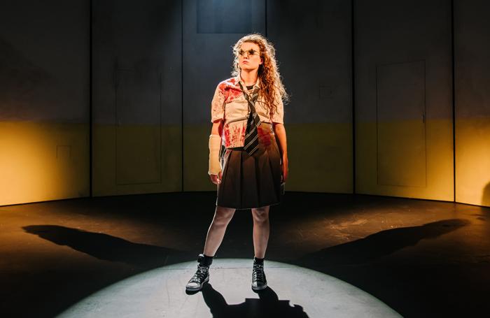Anna Russell-Martin in The Panopticon at Traverse Theatre, Edinburgh. Photo: Mihaela Bodlovic