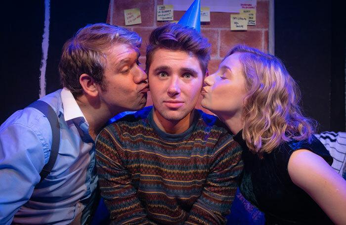 The cast of Tick, Tick…Boom! at Bridge House Theatre, London. Photo: Jamie Scott-Smith