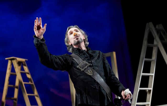 Tristan Sturrock as Cyrano at Bristol Old Vic. Photo: Geraint Lewis