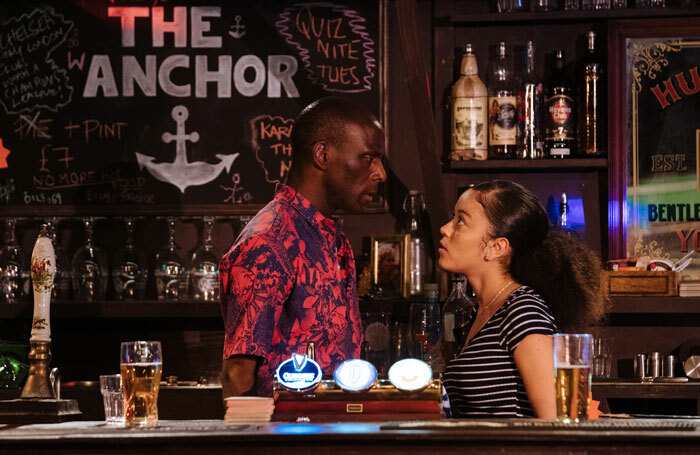 Valentine Hanson and Alex Jarrett in We Anchor in Hope at the Bunker, London. Photo: Helen Murray