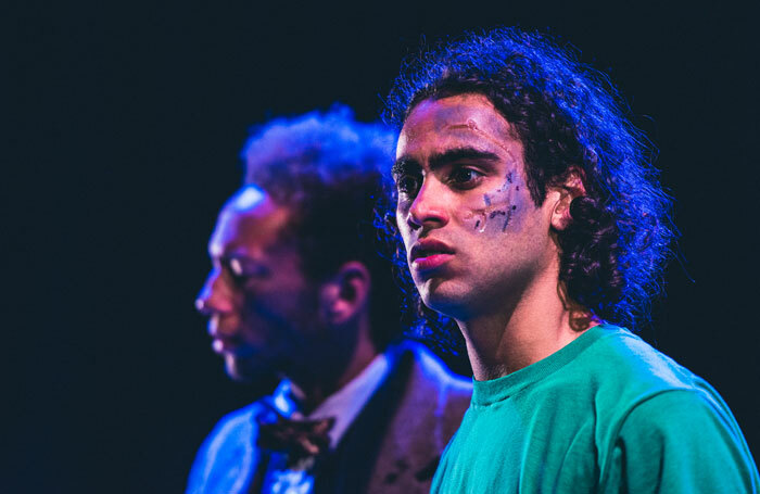 Joseph Langdon, one of Mountview's first scouting-outreach students, in his final year production of David Greig's San Diego. Joseph graduated last summer and has just completed his West End debut in Equus at the Trafalgar Studios. Photo: John Hunter