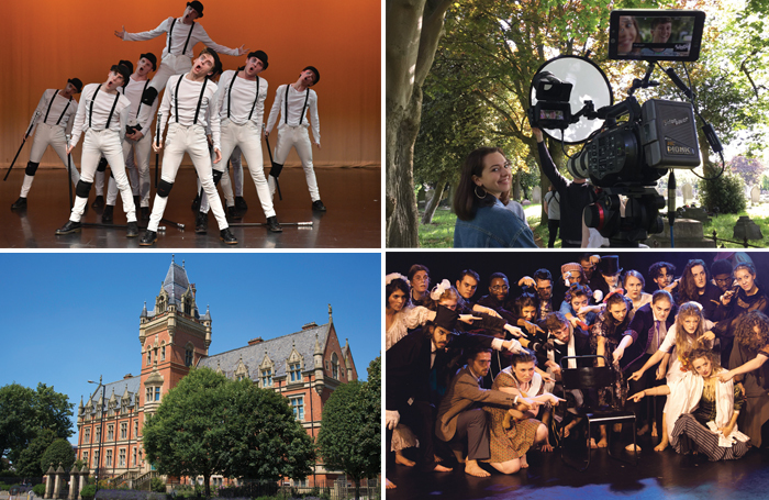 Clockwise from top left: Midlands Academy of Dance and Drama; MTA students at work; Fourth Monkey Actor Training Company and Arden School of Theatre in Manchester. Photos: MADD College, Julia Willis