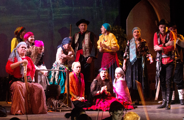 A scene from Jawnuta at Posk Theatre, London. Photo: Ryszard Szydlo