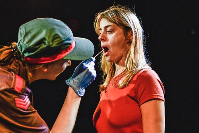 Hannah McPake and Siwan Morris in The Story at the Other Room, Cardiff. Photo: Kirsten McTernan