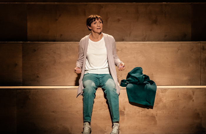 Rebecca Manley in Light Falls at Royal Exchange Theatre, Manchester. Photo:  Manuel Harlan