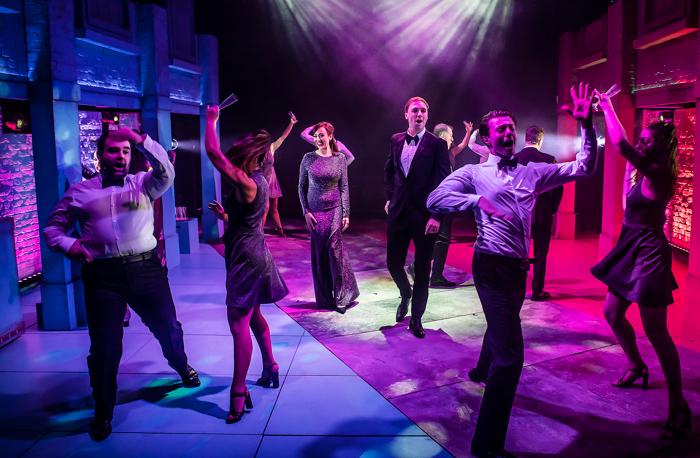 The cast of Soho Cinders at Charing Cross Theatre, London. Photo: Pamela Raith