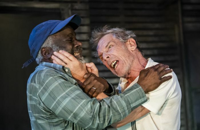 Joseph Marcell and Christopher Fairbank in Ages of the Moon at the Vaults. Photo: Tristram Kenton