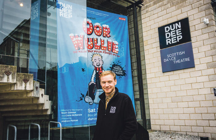 Andrew Manzi, box office manager at Dundee Rep