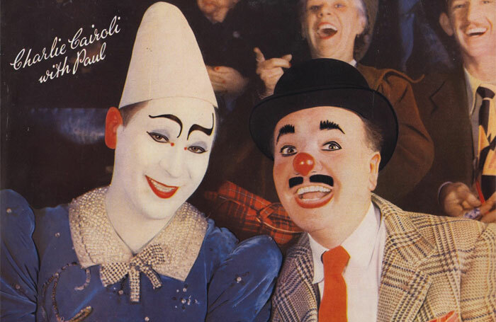 Charlie Cairoli with Paul Freedman the whiteface clown. Photo: Steven B Richley collection