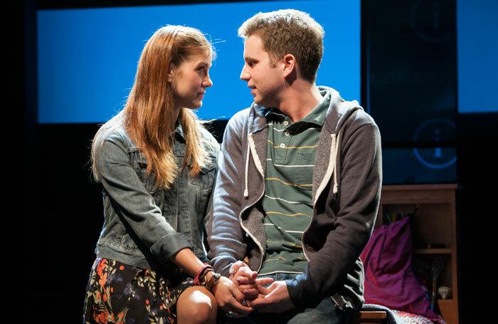 Laura Dreyfuss and Ben Platt in Dear Evan Hansen at the Music Box Theatre, New York. Photo: Margot Schulman