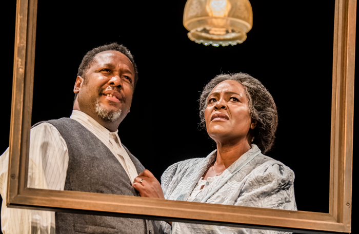 Wendell Pierce and Sharon D Clarke in Death of a Salesman at Piccadilly Theatre, London. Photo: Tristram Kenton