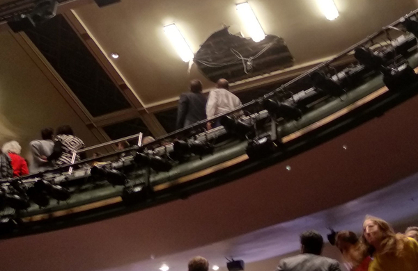 Theatregoers reveal 'terrifying' moment ceiling collapsed at Piccadilly Theatre