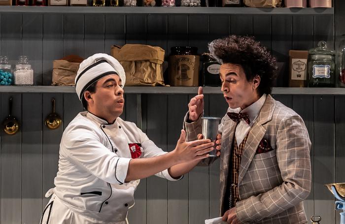 Emmanuel Franco and Luca Nucera in La Cucina at National Opera House, Wexford. Photo: Clive Barda