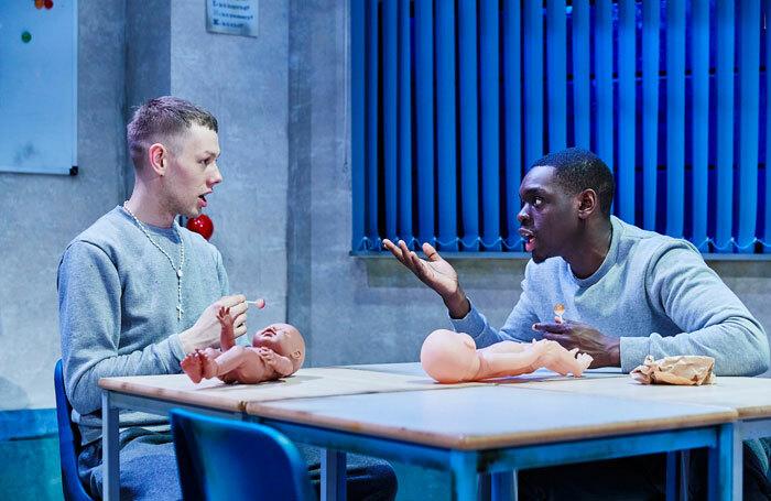 Joshua Finan and Ivan-Oyik in Shook at Southwark Playhouse, London. Photo: The Other Richard