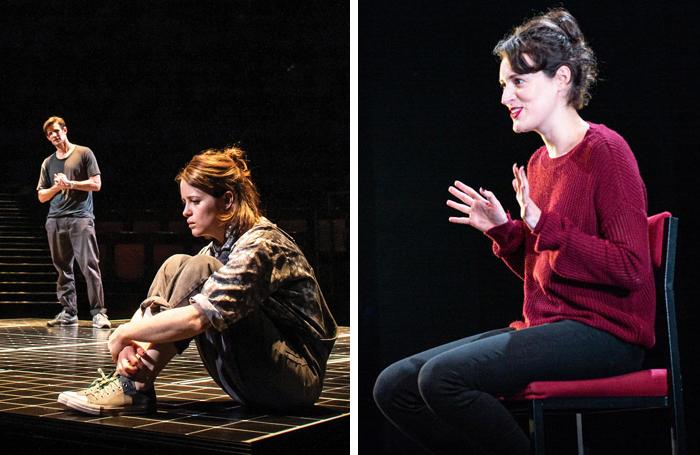 Claire Foy and Matt Smith in Lungs; Phoebe Waller-Bridge in Fleabag at Wyndham's Theatre. Photos: Helen Maybanks/ Matt Humphrey