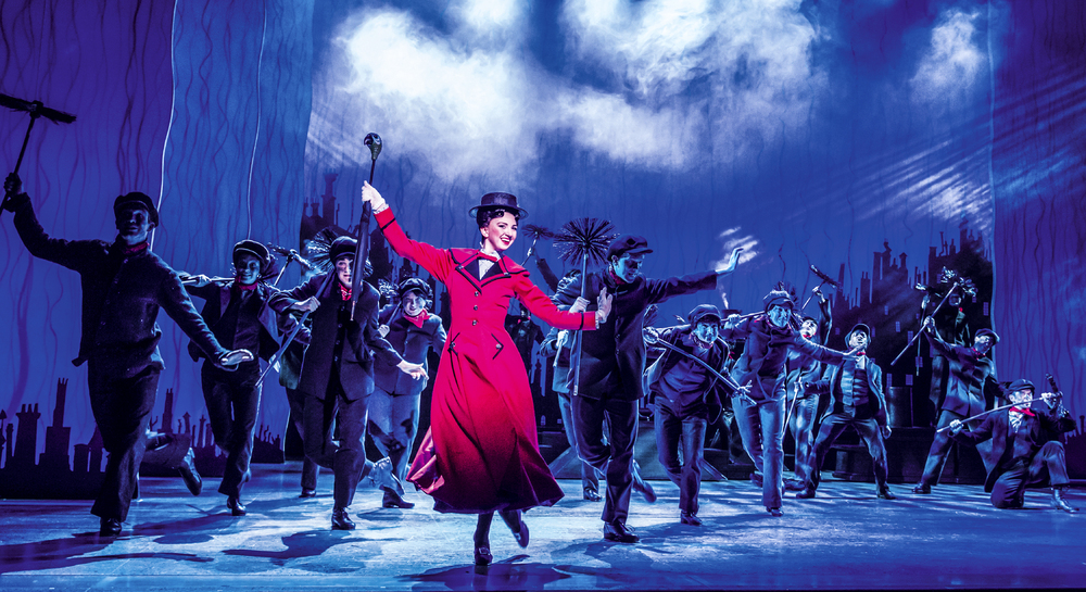 Zizi Strallen and the company of Mary Poppins at Prince Edward Theatre, London. Photo: Johan Persson