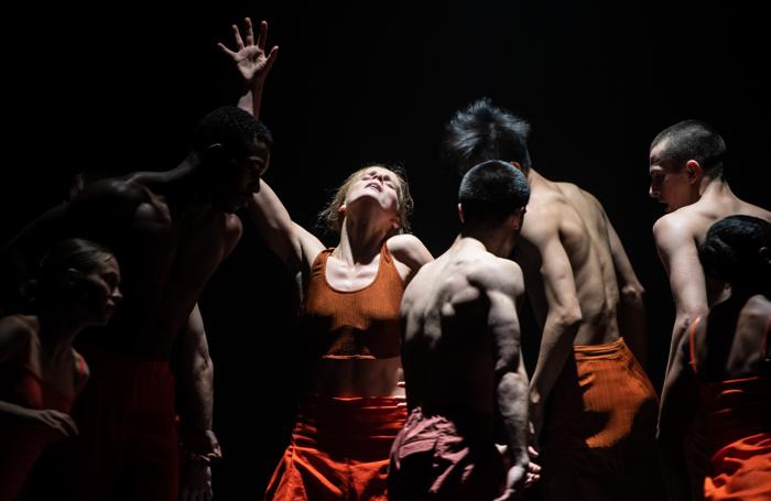 Minouche Van de Ven and the dancers of Rambert2 in Sama. Photo: Stephen Wright
