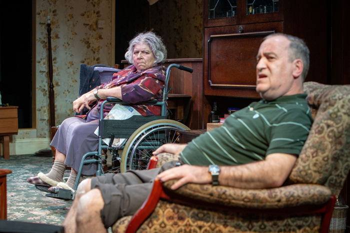 Miriam Margolyes and Mark Hadfield in Sydney and the Old Girl at Park Theatre. Photo: Pete Le May