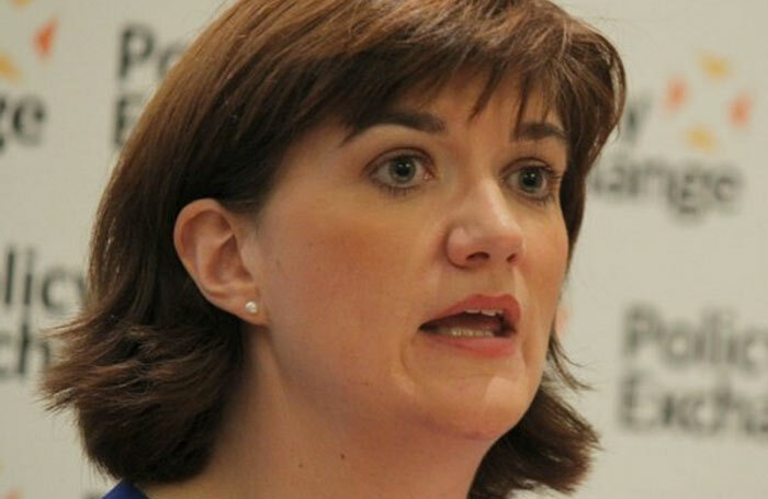 Nicky Morgan. Photo: Policy Exchange