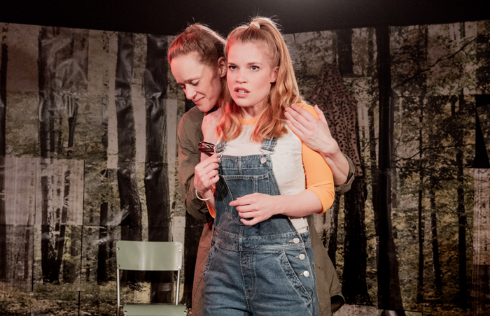 Anna Doolan and Kathryn O'Reilly in Poison Polluted at the Old Red Lion, London. Photo: Robert Workman